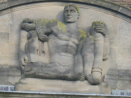 Photograph 11: Apollo on exterior of the house